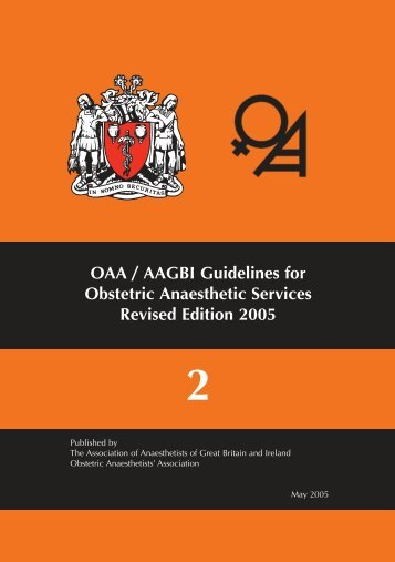Guidelines for Obstetric Anaesthesia Services - The Obstetric ...