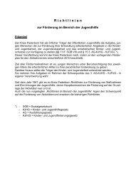 Richtlinien zur Förderung im Bereich der ... - Kreis Paderborn