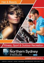 Hair & Beauty Fitness, Sport & Outdoor Recreation - TAFE NSW ...