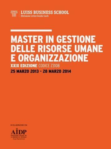 master in gestione delle risorse umane e organizzazione - Aidp