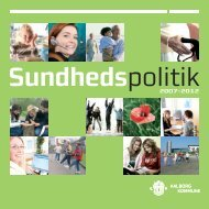 Sundhedspolitik 2007-2012 - Aalborg Kommune