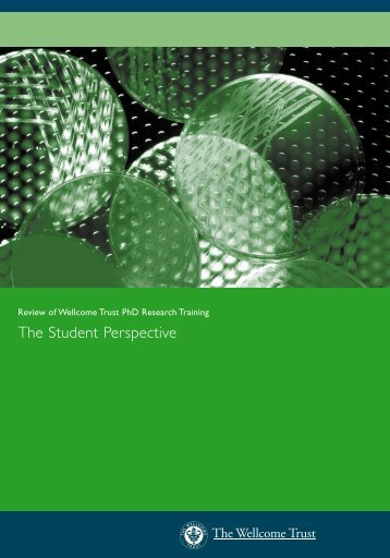 Review of Wellcome Trust PhD Training: The student perspective