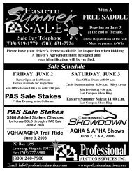free saddle - Professional Auction Services, Inc.