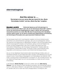 And the winner is ... - Dermalogica Award 2011 PDF - SD Group