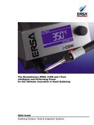 The Revolutionary ERSA i-CON and i-Tool: intelligent ... - Ersa GmbH