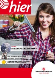 Ausgabe 1 2011 - Stadtwerke Osnabrück
