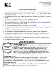 LEVELS OF MEMBERSHIP: - Idaho Health Care Association