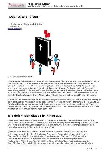 chrismon Regionalausgabe Baden - Kurse-zum-glauben.org