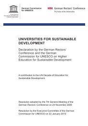 universities for sustainable development - Bildung für nachhaltige ...
