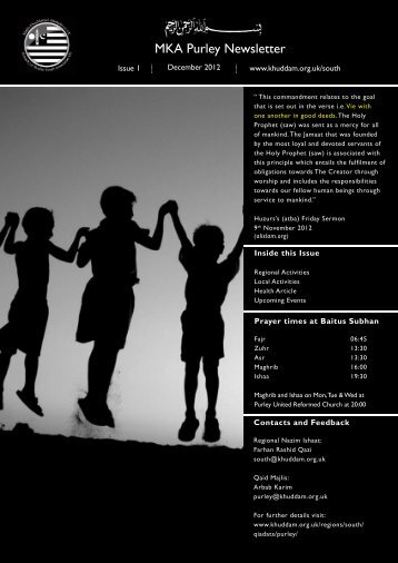 newsletter Purley Dec 12.indd - Majlis Khuddamul Ahmadiyya UK ...