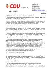 Haushaltsrede 2009 - CDU Bergneustadt