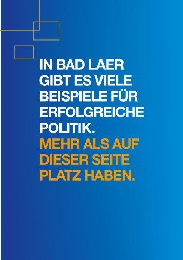 Stimmen für die CDU! - CDU Bad Laer