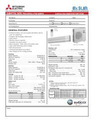 PKA-A30FAL & PUZ-A30NHA - Mitsubishi Electric Cooling & Heating