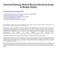Financial Planning, Michael Shearin Elm Street Group at Morgan Stanley