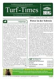 Power in der Schweiz - Turf-Times Deutschland