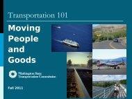Transportation 101 - Washington State Transportation Commission