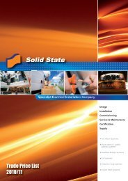 Trade Price List 2010/11 - Solid State Security