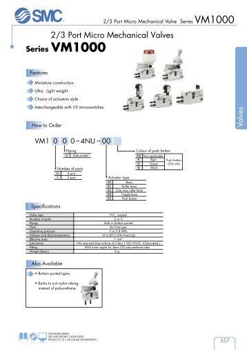Mechanical/Hand Valves - SMC