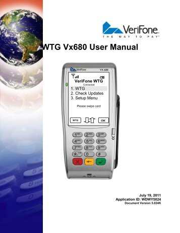 WTG Vx680 User Manual   VeriFone Support Portal
