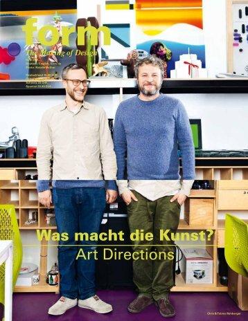 Was macht die Kunst? Art Directions - Ronan et Erwan Bouroullec