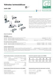 Válvulas termostáticas. Serie 220 - Caleffi