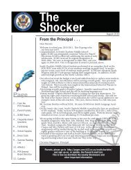 The Shocker - CMS School Web Sites - Charlotte-Mecklenburg ...