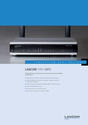 LANCOM 1751 UMTS - LANCOM Systems