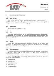 Satzung - Baden - Württembergischer  Badminton - Verband