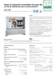 Grupo de regulación termostática de punto fijo con kit de - Caleffi