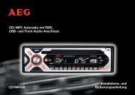 CD/ MP3 Autoradio mit RDS, USB- und Front-Audio-Anschluss ...