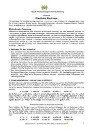 Flexibles Rechnen - PIK AS - TU Dortmund