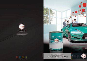 Excellence with R-M's waterborne Onyx hd - RM Paint
