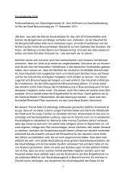 Schlusserklärung zum Haushalt von OB Dr. Gert Hoffmann - Stadt ...