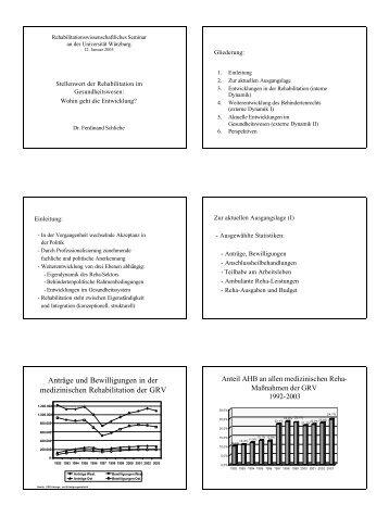 Anträge und Bewilligungen in der medizinischen Rehabilitation der ...