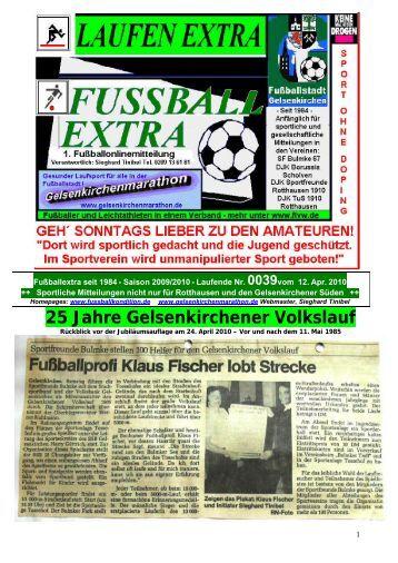 25 Jahre Gelsenkirchener Volkslauf - Gelsenkirchen Marathon