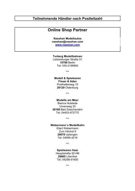 92190f8561a2c5 Teilnehmende Händler nach Postleitzahl Online Shop ... - bei Schuco