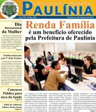 Renda Família é um benefício oferecido pela Prefeitura de Paulínia ...