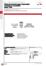Steckverschraubungen Superrapid Compact in Kunststoff - Serie 7000