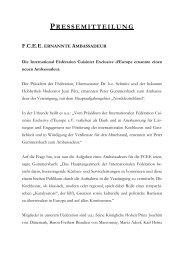 pressemitteilung fcee ernannte ambassadeur - Landhotel Schnuck