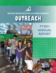 2011 Outreach Annual Report - KHEAA