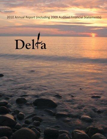 2010 Annual Report - The Corporation of Delta