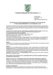 TENNISVERBAND MITTELRHEIN E. V. - Tennis Club Rot Weiss ...