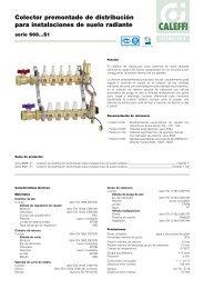 Colector premontado de distribución para instalaciones de ... - Caleffi
