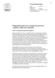 Alkohol- och drogpolicy - Landskrona kommun
