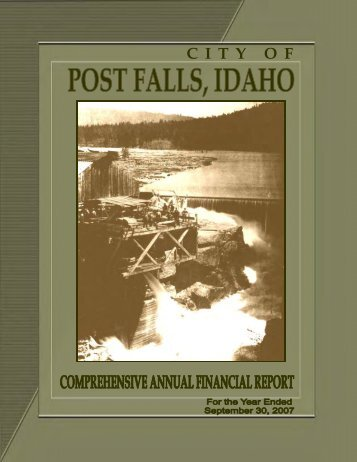 CAFR 2007 - PDF - City of Post Falls