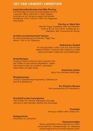 Detaljerat program för Orrefors-Nybro-Målerås (pdf, nytt fönster)