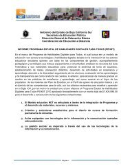 Informe - Secretaria de Educación Pública Baja California Sur