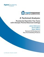 A Technical Analysis: - Tyco Fire Products