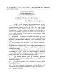 published in the gazette of india, extraordinary, part ii - Service Tax
