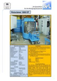Rotoclaner 1000 DT - BvL Group